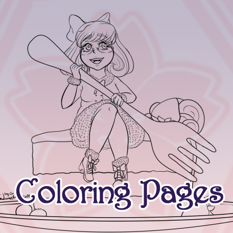 Coloring Pages - Cute Fantasty Girls