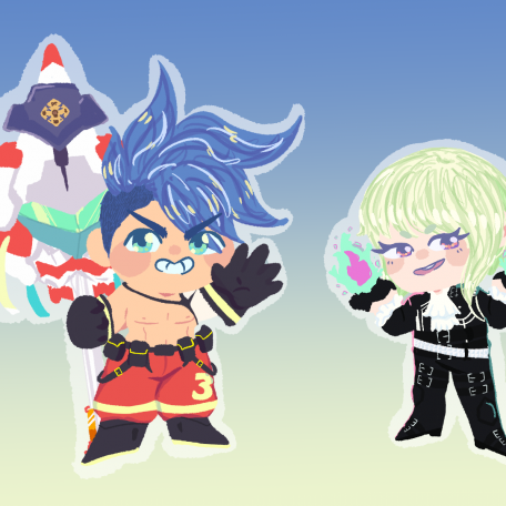 Promare holographic charms