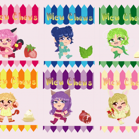 Tokyo Mew Mew candy bag shaker charms