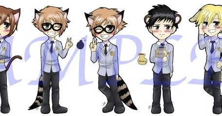 Ouran Host Club Bookmarks