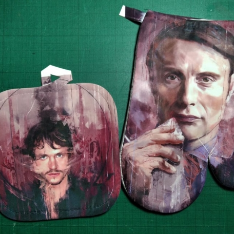 Mitten and Pot Holder - Hannibal by Wisesnail