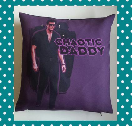 Chaotic Daddy Pillow Cover by LadyGladia e Spid3yart
