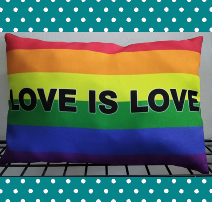 Love is Love Pillow by LadyGladia (Customizable)