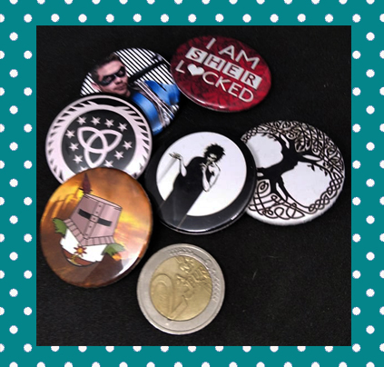 Customizable 1,5 inch Button Pins and Magnets