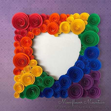 Rainbow Flower Picture Frame
