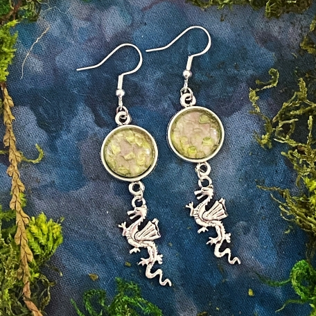Earrings Made with REAL Snake Shed from Astrid the Pine Snake