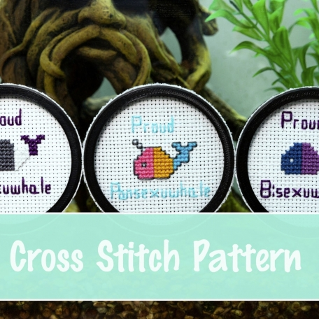Queer Whale Cross Stitch Pattern